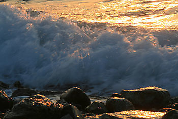 Zonsondergang aan de kust van Kreta Crete Joy Georgioupolis