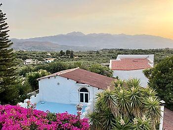 Het uitzicht vanaf het appartement Crete Joy Georgioupolis